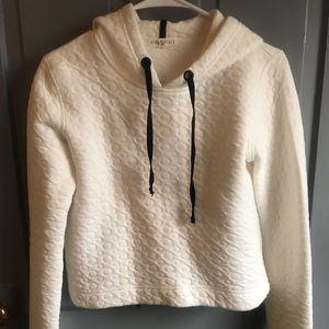 Aeropostale White Crop Sweatshirt